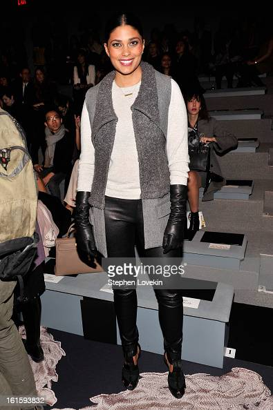 Rachel Roy attends the Vera Wang Fall 2013 fashion show during MercedesBenz Fashion Week at The Stage at Lincoln Center on February 12 2013 in New...