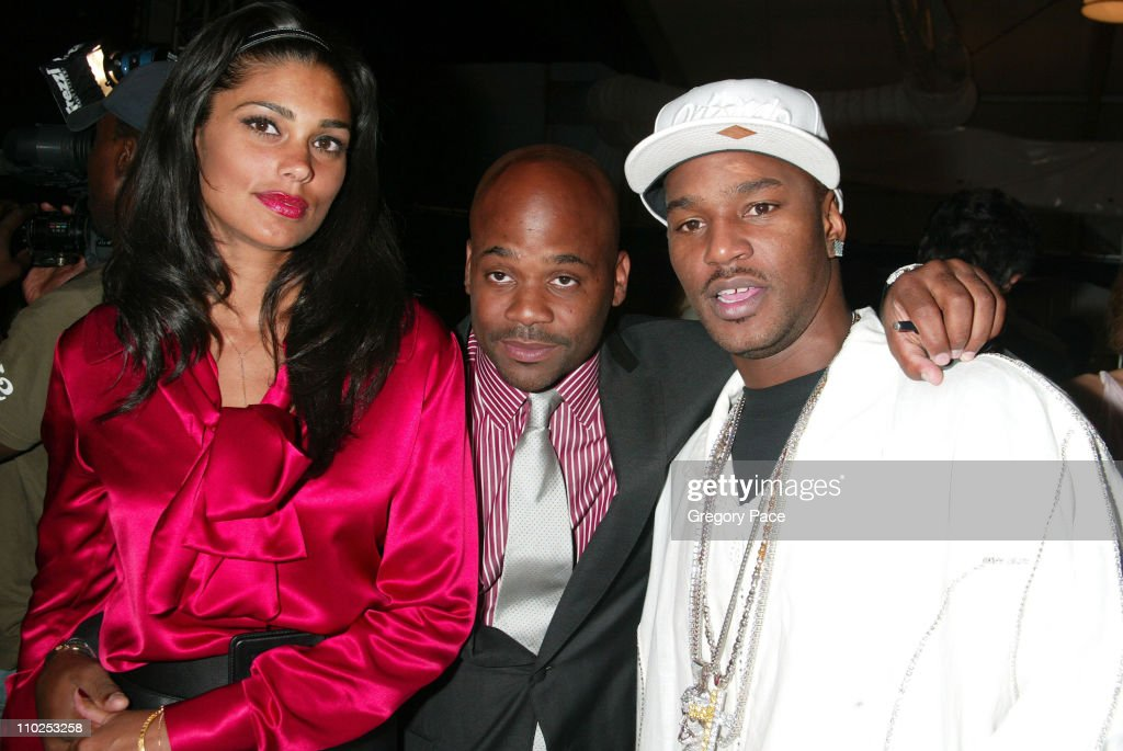 Rachel Roy Damon Dash and Cam'ron during Olympus Fashion Week Spring 2006 Luca Luca Backstage at Bryant Park in New York City New York United States