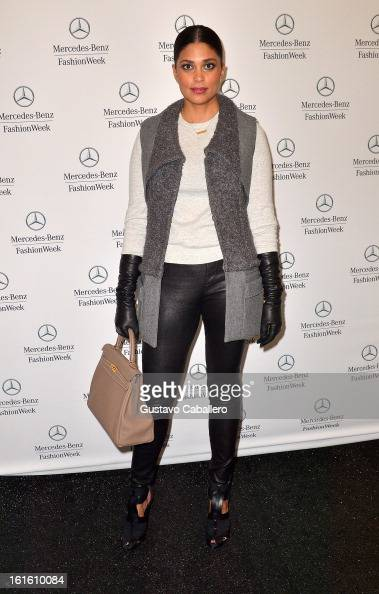 Rachel Roy is seen Around Lincoln Center Day 6 Fall 2013 MercedesBenz Fashion Week at Lincoln Center for the Performing Arts on February 12 2013 in...