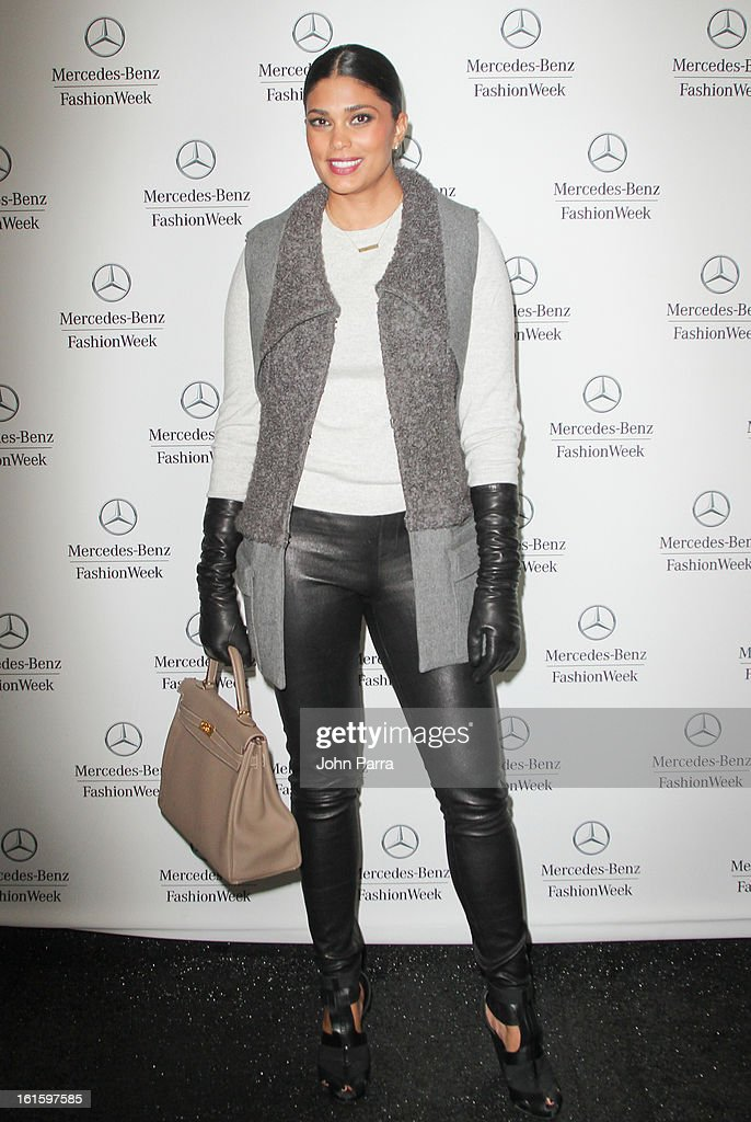 Rachel Roy is seen during Fall 2013 Mercedes-Benz Fashion Week at Lincoln Center for the Performing Arts on February 12, 2013 in New York City.