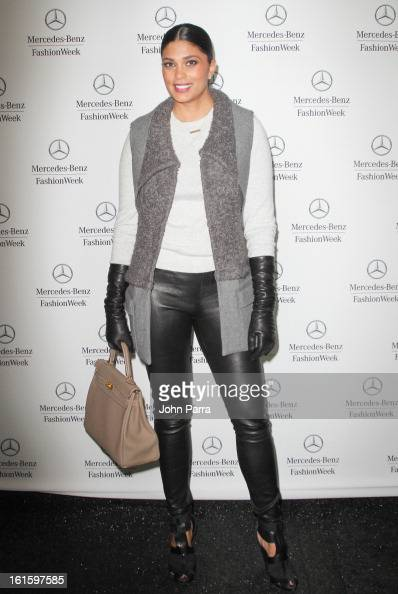 Rachel Roy is seen during Fall 2013 MercedesBenz Fashion Week at Lincoln Center for the Performing Arts on February 12 2013 in New York City