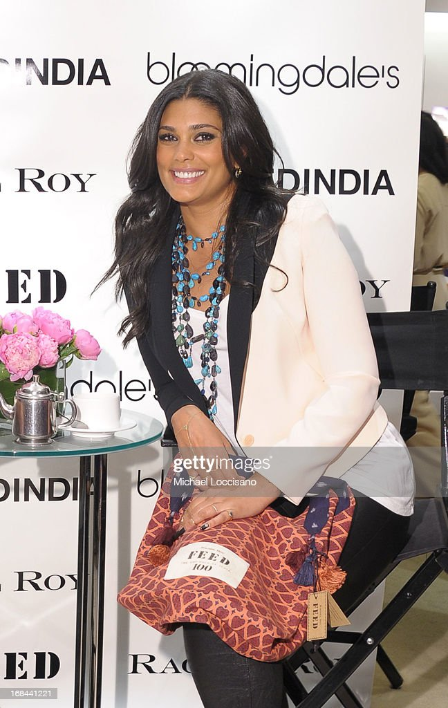 Rachel Roy poses for a photo as she debuts FEED India Collaboration with Lauren Bush Lauren at Bloomingdale's 59th Street Store on May 9, 2013 in New York City.