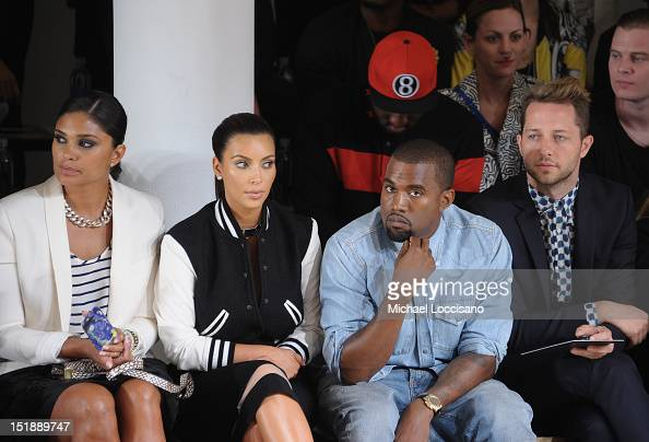 Rachel Roy TV Personality Kim Kardashian Rapper Kanye West and Derek Blasberg attend Louise Goldin Spring 2013 at Milk Studios on September 12 2012...