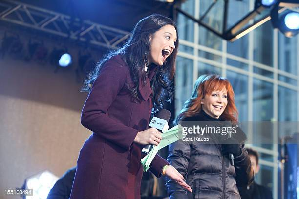 Rachel Smith and Reba McEntire attend ABC's 'Good Morning America' ahead of the 46th Annual CMA awards at the Bridgestone Arena on November 1 2012 in...