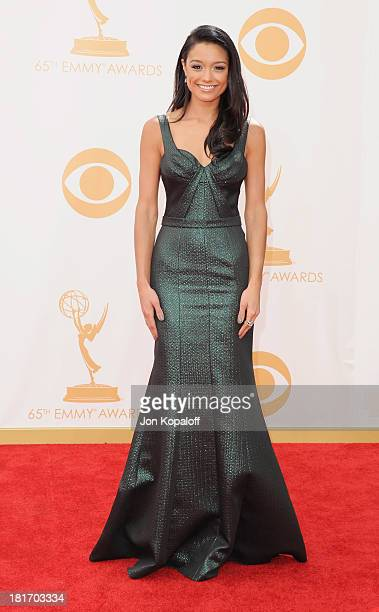 Rachel Smith arrives at the 65th Annual Primetime Emmy Awards at Nokia Theatre LA Live on September 22 2013 in Los Angeles California