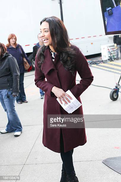 Rachel Smith attends ABC's 'Good Morning America' ahead of the 46th Annual CMA awards at the Bridgestone Arena on November 1 2012 in Nashville...