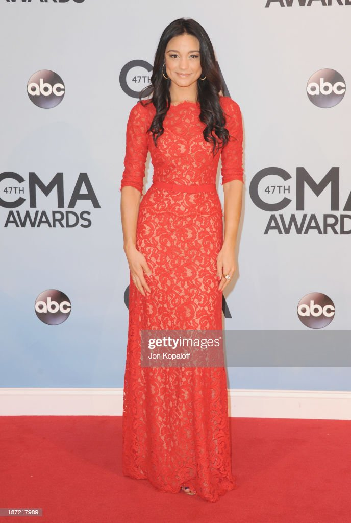 <a gi-track='captionPersonalityLinkClicked' href=/galleries/search?phrase=Rachel+Smith&family=editorial&specificpeople=1760635 ng-click='$event.stopPropagation()'>Rachel Smith</a> attends the 47th annual CMA Awards at the Bridgestone Arena on November 6, 2013 in Nashville, Tennessee.