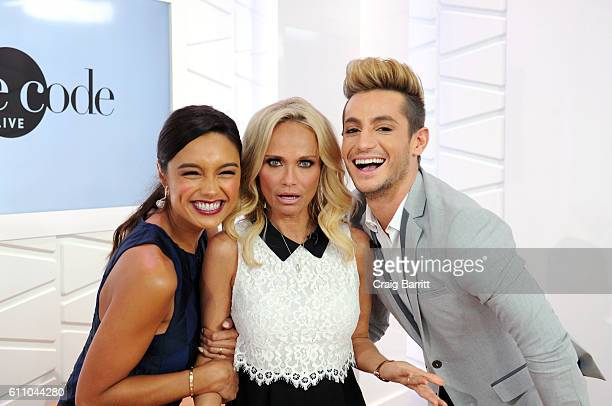 Rachel Smith Kristin Chenoweth and Frankie Grande appear on Amazon's Style Code Live on September 28 2016 in New York City
