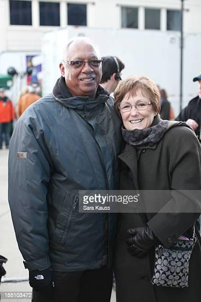 Rachel Smith's Parents Rodney Smith and Beverly Smith attend ABC's 'Good Morning America' ahead of the 46th Annual CMA awards at the Bridgestone...
