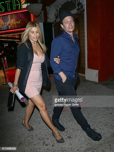 Rachel Sterling and Damian Whitewood are seen on October 18 2016 in Los Angeles California