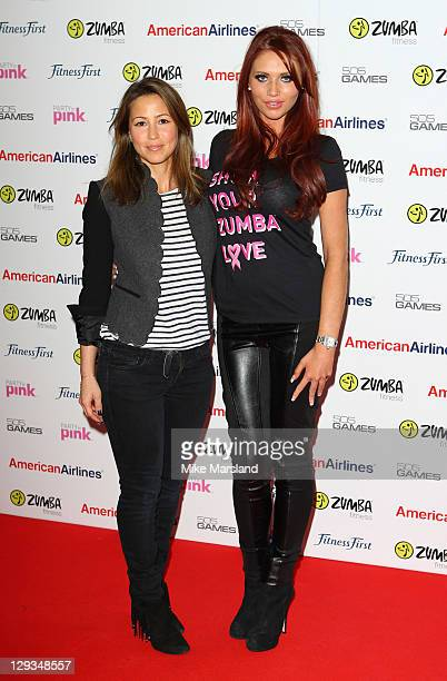 Rachel Stevens and Amy Childs attend Pink Zumbathon Party in aid of Breakthrough Breast Cancer at Alexandra Palace on October 16 2011 in London...