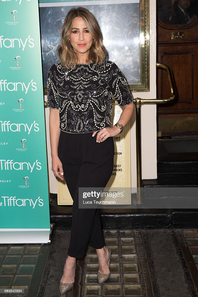 Rachel Stevens arrives for the opening night of Breakfast at Tiffany at Theatre Royal on July 26, 2016 in London, England.
