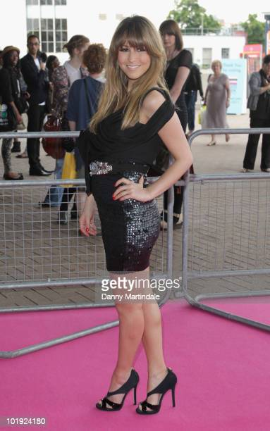 Rachel Stevens attends the Graduate Fashion Week 2010 Gala show and party at Earls Court on June 9 2010 in London England