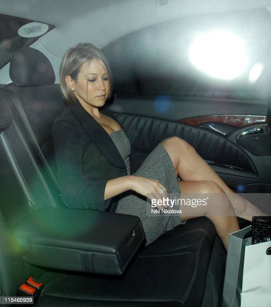 Rachel Stevens during Lancome Colour Design Awards 2006 Departures at Linley Hall in London Great Britain