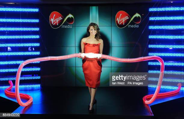 Rachel Stevens launches Virgin Media's new 50MB broadband service at The Hospital central London