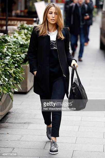 Rachel Stevens of 'S Club 7' seen arriving at the Global Radio Studios Leicester Square on November 19 2014 in London England Photo by Neil...