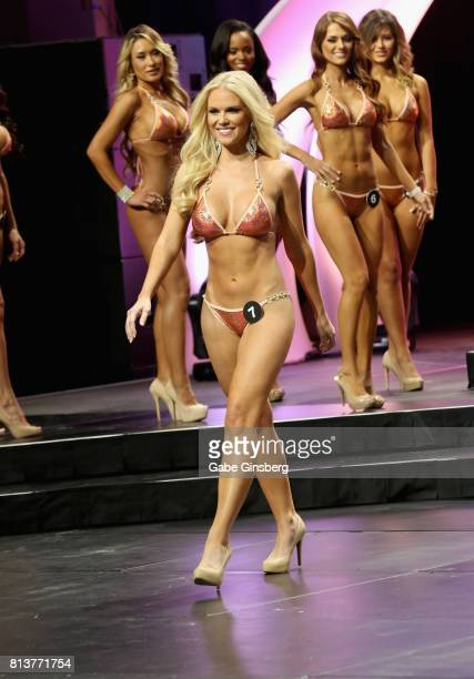 Rachel Swartz of Chantilly Virginia competes during the 21st Annual Hooters International Swimsuit Pageant at The Pearl concert theater at Palms...