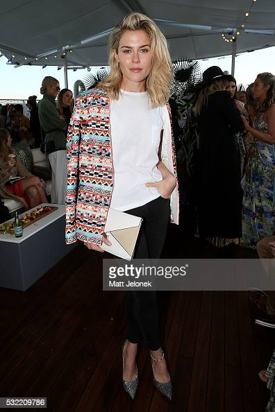 Rachel Taylor attends the Camilla show at MercedesBenz Fashion Week Resort 17 Collections at The Seadeck on May 19 2016 in Sydney Australia