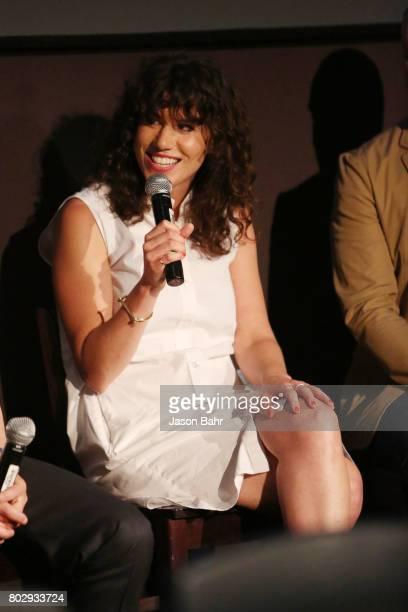 Rachel Traub speaks in the Warrior Poets panel discussion during SeriesFest Season 3 at Sie FilmCenter on June 28 2017 in Denver Colorado