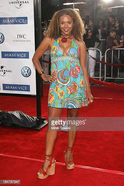 Rachel True during 'Miami Vice' Los Angeles World Premiere at Mann Village Theatre in Westwood California United States