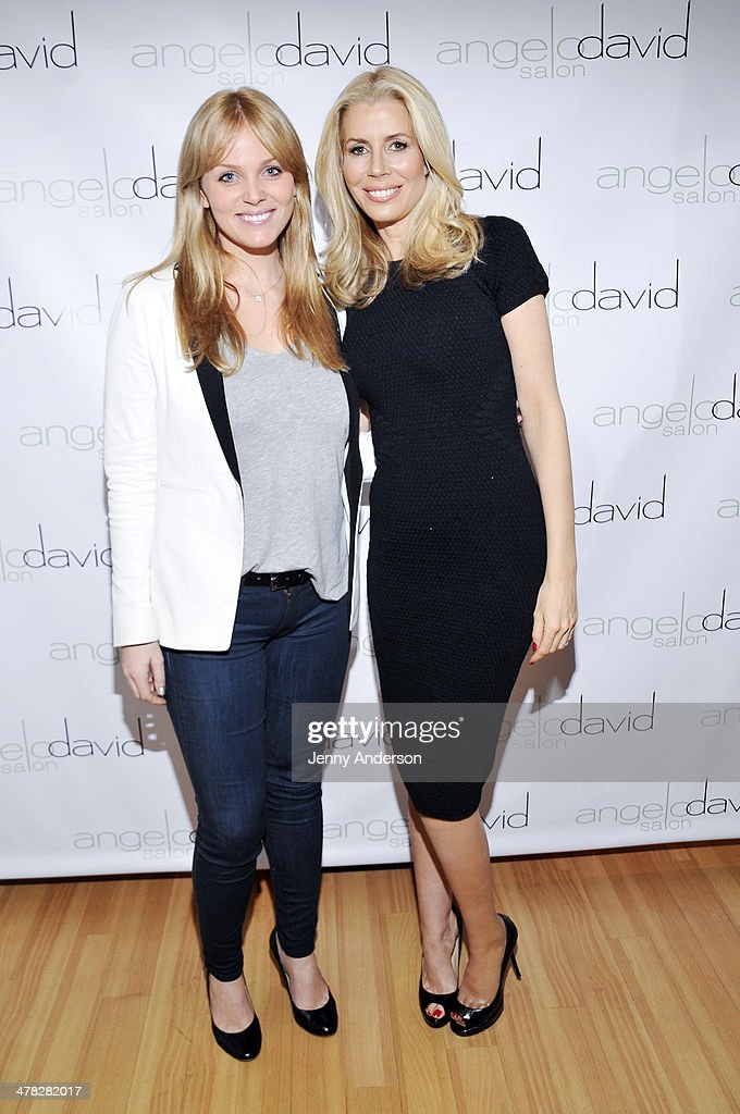Rachel Truehart and Aviva Drescher attend Aviva Drescher's 'Leggy Blonde' book launch celebration at Angelo David Salon on March 12, 2014 in New York City.