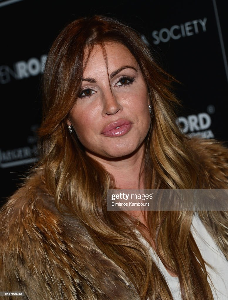 Rachel Uchitel attends The Cinema Society & Jaeger-LeCoultre screening of Open Road Films' 'The Host' at Tribeca Grand Hotel on March 27, 2013 in New York City.