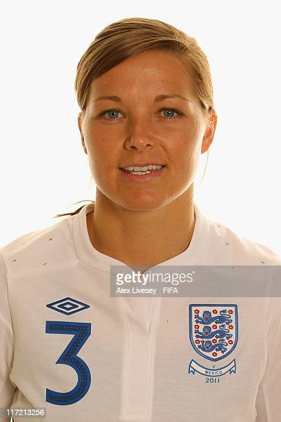 Rachel Unitt of England during the FIFA portrait session on June 24 2011 in Wolfsburg Germany