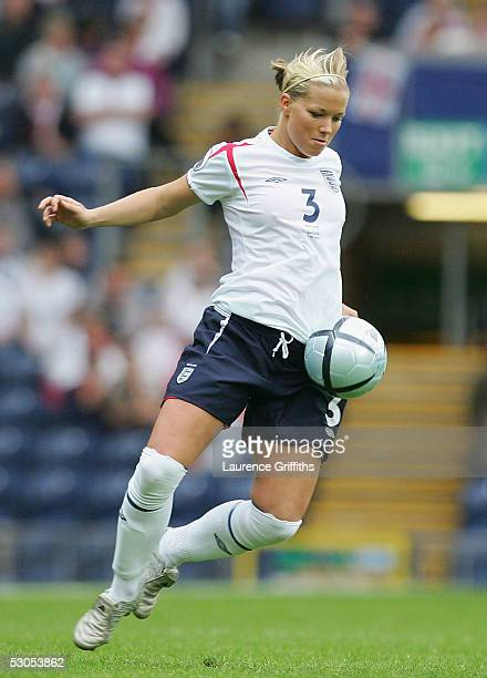 Rachel Unitt of England during UEFA Women's Europen Championship Group Phase Group A match between England and Sweden at Ewood Park on June 11 2005...