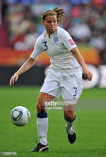 Rachel Unitt of England in action during the FIFA Women's World Cup 2011 group B match between England and Japan at the FIFA World Cup stadiumon July...