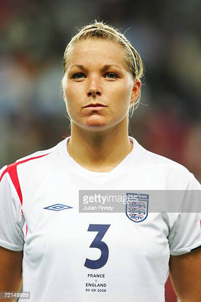 Rachel Unitt of England looks on prior to the FIFA Womens World Cup Qualifier match between France and England at Stade de la Route Lorient on...