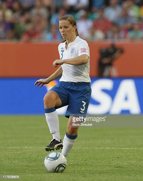 Rachel Unitt of England runs with the ball during the FIFA Women's World Cup Group B match between Mexico and England at Arena im Allerpark on June...