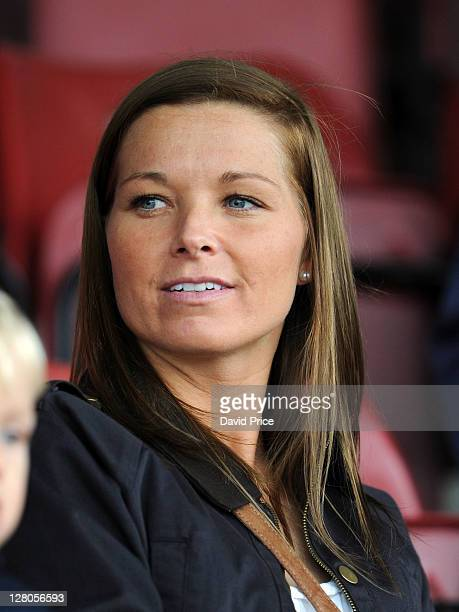 Rachel Unitt of Everton Ladies watches from the stands during the Women's Champions League match between Arsenal Ladies FC and Bobruichanka at Meadow...