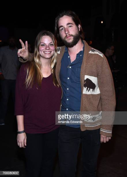 Rachel Walker and Joshua Wilmott attend the Closing Night Party during the 2017 Los Angeles Film Festival at the Festival Lounge on June 22 2017 in...