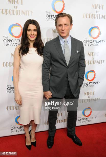 Rachel Weisz and Daniel Craig attend The Opportunity Networks 7th Annual Night of Opportunity at Cipriani Wall Street on April 7 2014 in New York City