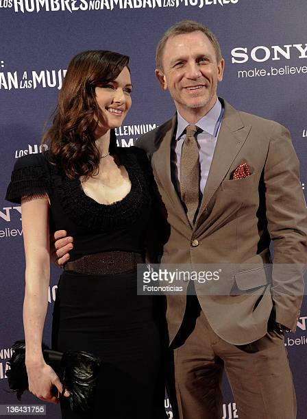 Rachel Weisz and Daniel Craig attend the premiere of 'Millenium The Girl With the Dragon Tattoo' at Callao CInema on January 4 2012 in Madrid Spain