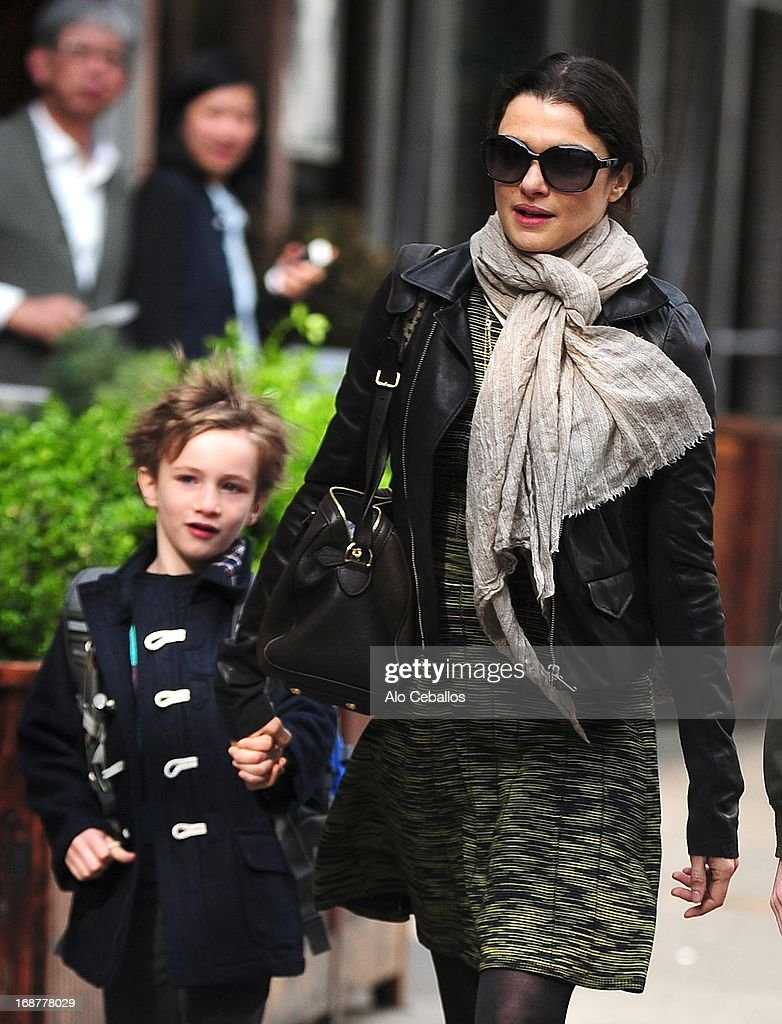<a gi-track='captionPersonalityLinkClicked' href=/galleries/search?phrase=Rachel+Weisz&family=editorial&specificpeople=204656 ng-click='$event.stopPropagation()'>Rachel Weisz</a> and Henry Aronofsky are seen in the East Village on May 15, 2013 in New York City.