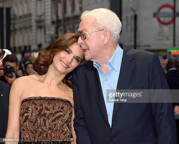 Rachel Weisz and Michael Caine attend a screening of 'Youth' during the BFI London Film Festival at Vue West End on October 15 2015 in London England