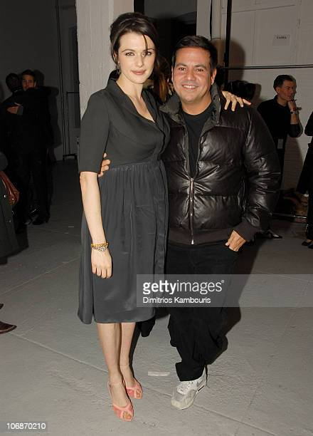 Rachel Weisz and Narciso Rodriguez during Olympus Fashion Week Fall 2006 Narciso Rodriguez Front Row and Backstage at Bryant Park in New York City...