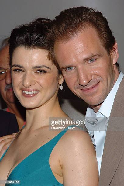Rachel Weisz and Ralph Fiennes during The Constant Gardener New York Premiere Arrivals at Loews Lincoln Square in New York City New York United States