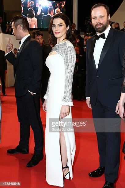 Rachel Weisz and Yorgos Lanthimos attend the Premiere of 'The Lobster' during the 68th annual Cannes Film Festival on May 15 2015 in Cannes France