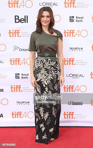 Rachel Weisz attends 'The Lobster' Premiere during 2015 Toronto International Film Festival at Princess of Wales Theatre on September 11 2015 in...