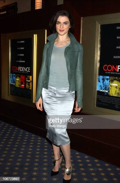 Rachel Weisz during Calvin Klein Presents Private Screening of 'Confidence' at MGM Screening Room in New York City New York United States