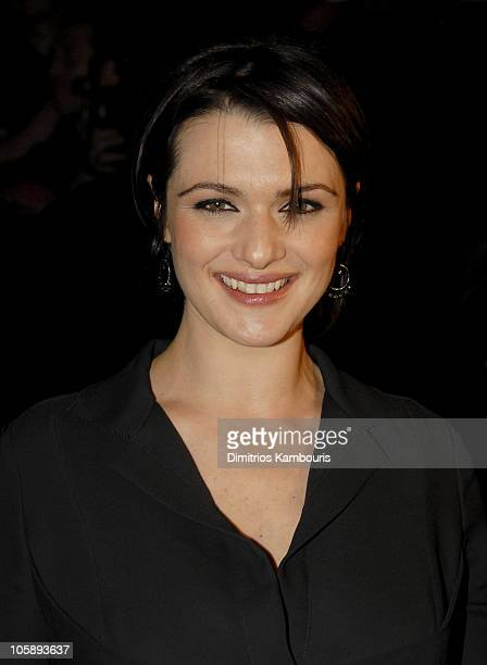 Rachel Weisz during Olympus Fashion Week Fall 2006 Narciso Rodriguez Front Row and Backstage at Bryant Park in New York City New York United States