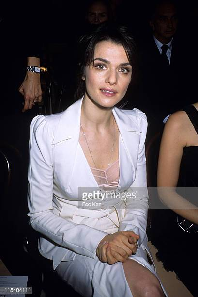 Rachel Weisz during Paris Fashion Week Pret a Porter Spring/Summer 2006 Christian Dior Front Row at Front Row Grand Palais in Paris France