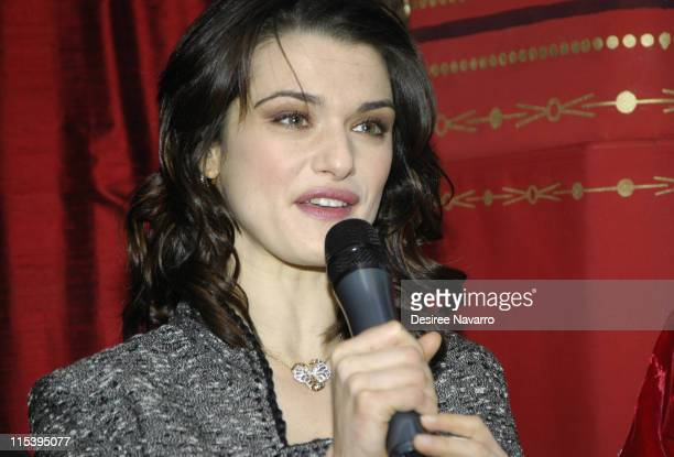 Rachel Weisz during Rachel Weisz Hosts the Cartier Red Bow Unveiling to Kick Off the Holiday Season at Cartier Mansion in New York City New York...