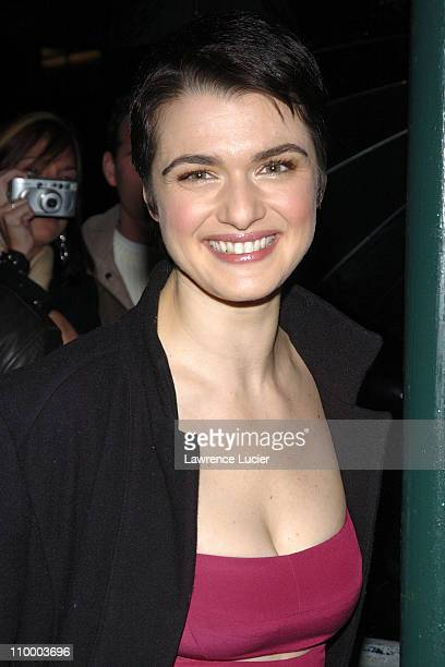 Rachel Weisz during Rachel Weisz Visits The Late Show with David Letterman February 14 2005 at Ed Sullivan Theater in New York City New York United...