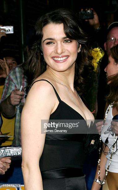 Rachel Weisz during Rachel Weisz Visits the 'Late Show with David Letterman' August 31 2005 at Ed Sullivan Theatre in New York City New York United...