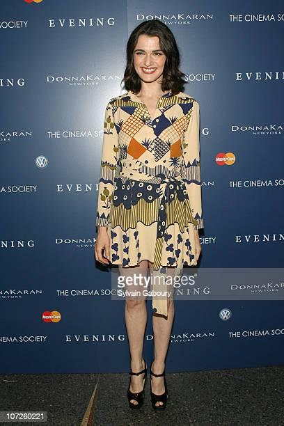 Rachel Weisz during The Cinema Society and Donna Karan host the NY Premiere of 'Evening' Inside arrivals at Chelsea West Theatre at 333 West 23rd...