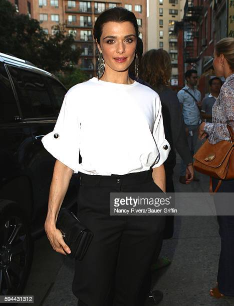 Rachel Weisz is seen on August 23 2016 in New York City