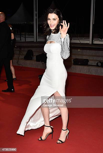 Rachel Weisz leaves the 'Lobster' Premiere during the 68th annual Cannes Film Festival on May 15 2015 in Cannes France